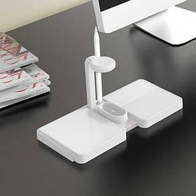 Беспроводное зарядное устройство S11 4в1 wireless charging dock for iphone + apple watch Черный Белый