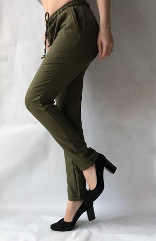 Женские летние штаны, №14 темно-зеленый, фото 2