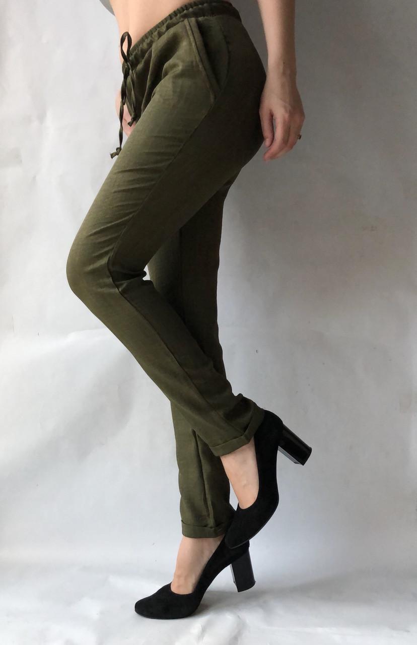 Женские летние штаны, №14 темно-зеленый