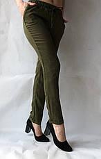 Женские летние штаны, №14 темно-зеленый, фото 3