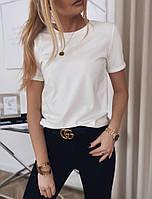 Женская базовая футболка ,женская однотонная футболка, фото 1