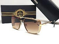 Мужские солнцезащитные очки маска Dita (1003) gold