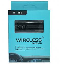Автомобильный Bluetooth трансмиттер Wireless receiver Etercycle bt 450 черный(0000203)