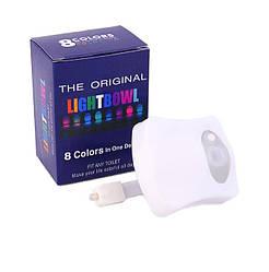 Светильник ночник LIGHTBOWL Подсветка LED для унитаза с датчиком движения 8 цветов (000301)
