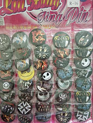 Значки Vivay на одежду, рюкзак, сумку и ТД. значки разноцветные(рок группы) (070002)