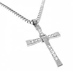 Крест Доминика Торетто Саме То с цепочкой Серебристый (071001)