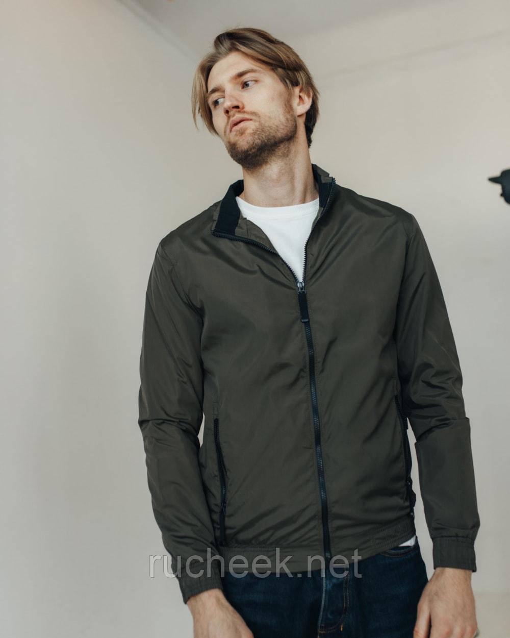 Куртка легкая ветровка мужская без капюшона р - ры S - XХL