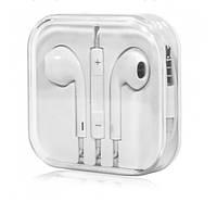 Гарнитура Lesko Ear Pods White проводные стерео наушники вкладыши для смартфона планшета (090101)
