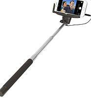 Монопод для селфи Selfie stick cable take pole Черный (080106)