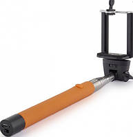 Монопод для селфи selfie Selfie stick take pole Оранжевый (080104)