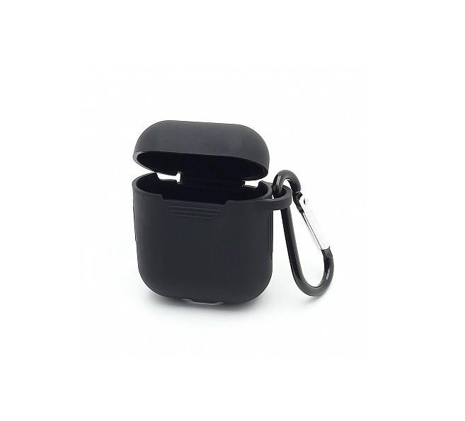 Силиконовый чехол Alitek с карабином для наушников черный (062002)