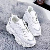 Кросівки жіночі Tenx білий + рефлективні вставки / Кроссовки женские Tenx белый + рефлективные вставки