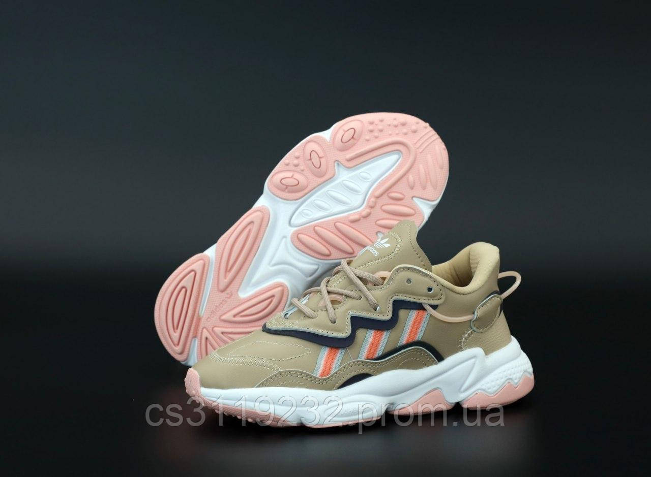 Женские кроссовки Adidas Ozweego Beige (бежевые)