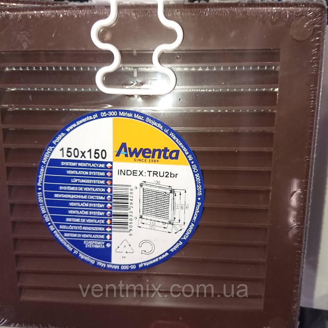 Решетка вентиляционная 150x150 мм (коричневая)