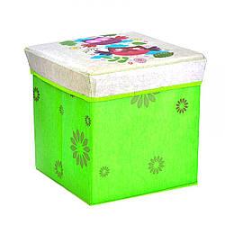 Корзинка-пуфик цветной, с рисунком Совы