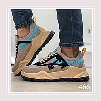 Женские кроссовки сетка бежевые, фото 1