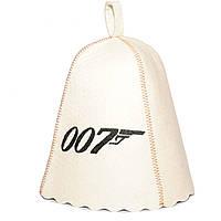 Шапка для сауны с вышивкой ' Агент 007 ', Saunapro