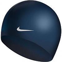 Шапочка для плавання Nike SOLID SILICONE Темно синій