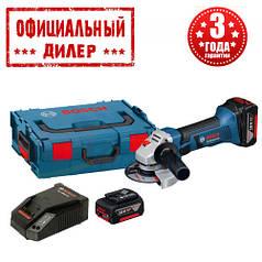 Аккумуляторная угловая шлифмашина Bosch GWS 18-125 V-LI (L-Boxx) (18В, 2х4.0Ач)