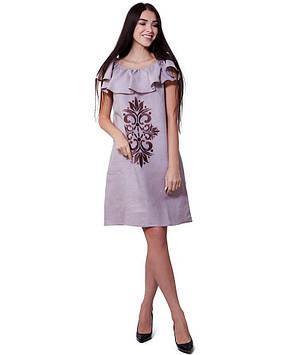 Стильное летнее платье с вышивкой (размеры XS-XL)