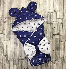 """Детский демисезонный конверт на выписку """"Ушки"""", конверт-одеяло, нарядный конверт на выписку (ВЕСНА/ ОСЕНЬ), фото 3"""