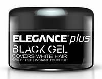 Гель для окрашивания седых волос Elegance Plus Covers White Hair Gel Black