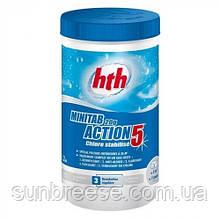 5в1 hth 1.2 кг (20г медленно растворимые хлорные таблетки) Minitab 20g Action 5
