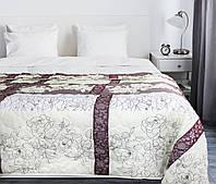 Покрывало на кровать, диван 145х210 хлопковое Сливовое