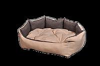 """Лежак (лежанка) для котов и собак Мур-Мяу """"Аллегро"""" Бежево-коричневый"""