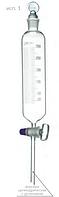 Воронка делительная цилиндрическая с делениями ВД-1, 125 мл