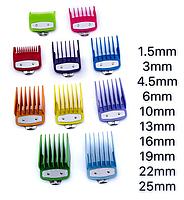 Набор цветных насадок Premium для машинок Wahl, 10 шт (03422-Color), фото 2