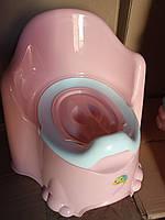 Горшок детский с крышкой высокая спинка Comfort Турция 11111 розовый, фото 1