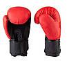Боксерские перчатки в стиле EVERLAST DX матовые красные EV3597  размер 12 унц., фото 2