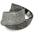 Эксклюзивное серебряное кольцо с коньячными фианитами и черным родием, фото 8