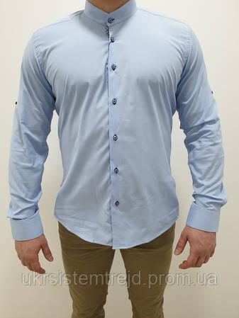 Рубашка мужская однотонная Passero (Slim)