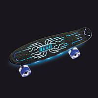 Скейтборд Neon Hype Green Синий N100787