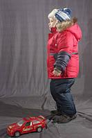 Зимний комбинезон для мальчика однотонный Красный