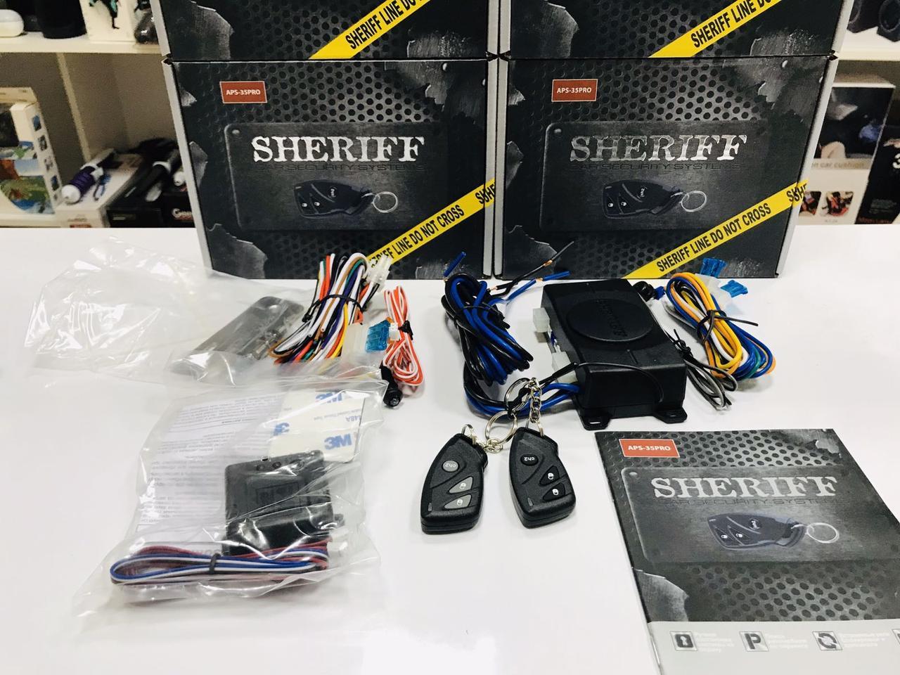 Якісна Одностороння Автомобільна Сигналізація Sheriff APS-35PRO. ГАРАНТІЯ - РІК!