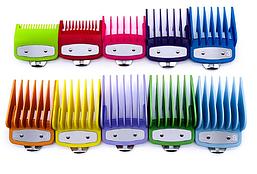 Набір кольорових насадок Premium для машинок Wahl, 10 шт (03422-Color)