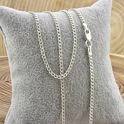 Серебряная цепочка Панцирная длина 55 см ширина 2 мм вес 5.3 г