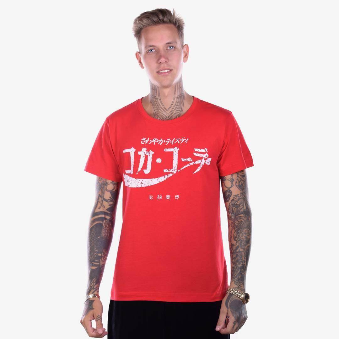 Футболка мужская JAPAN COLA красная