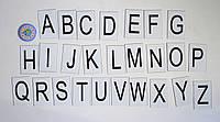 Заглавные буквы Английского алфавита. Пластиковые карточки для наборного полотна