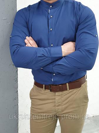 Рубашка мужская однотонная (Passero Slim)