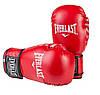 Боксерские перчатки в стиле EVERLAST DX матовые красные EV2218  размер 12 унц., фото 2