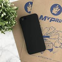 Чехол силиконовый для iPhone 5/5S черный (4466)
