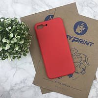 Чехол силиконовый для iPhone 7 PLUS красный (4486)