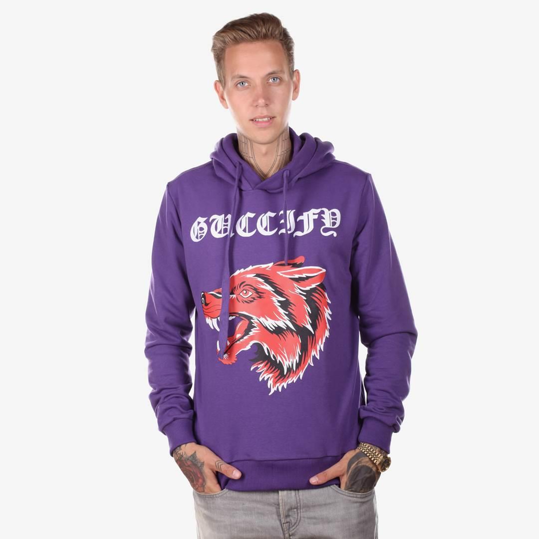 Худи мужское  FU фиолетовый