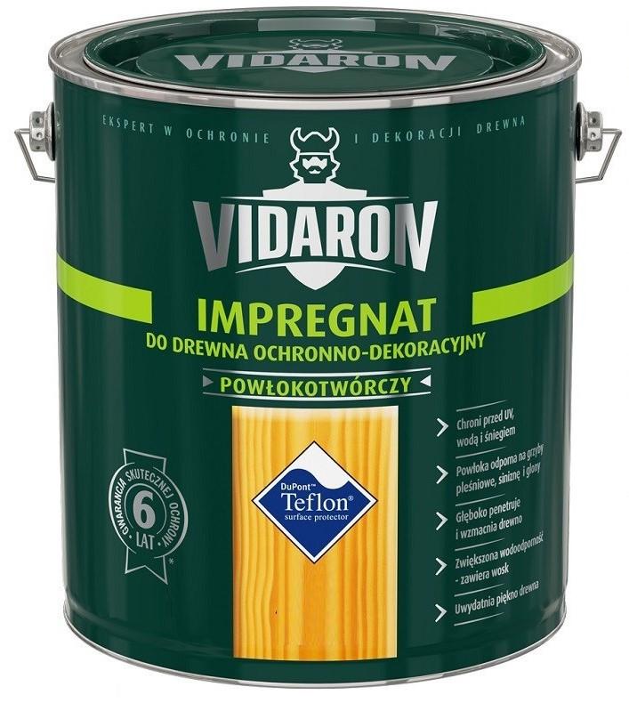 Імпрегнат лак тонуючий захисний для деревини V04 Vidaron ГОРІХ ГРЕЦЬКИЙ 4,5л