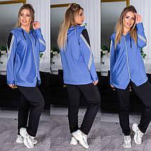 """Спортивный женский костюм дайвинг """"Trace"""" с капюшоном и карманами (большие размеры), фото 3"""