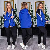 """Спортивный женский костюм дайвинг """"Trace"""" с капюшоном и карманами (большие размеры), фото 2"""
